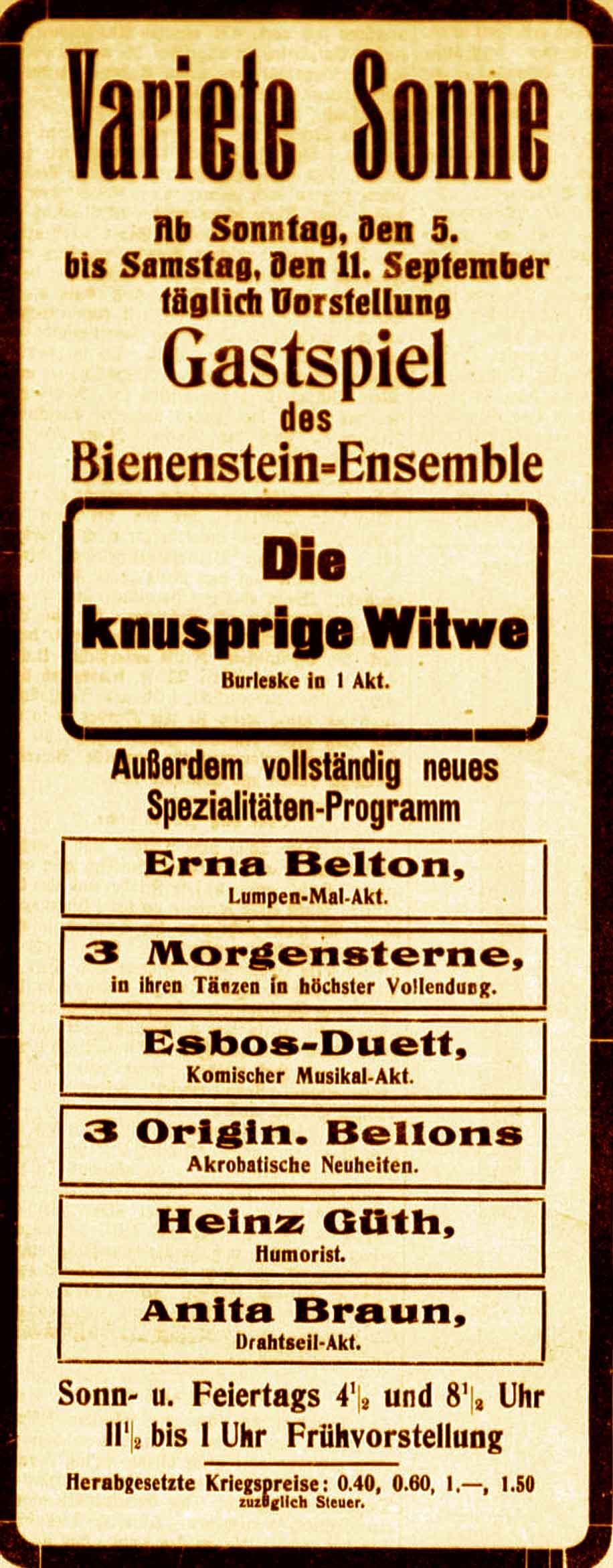 Bonn 1914-1918 - September 1915