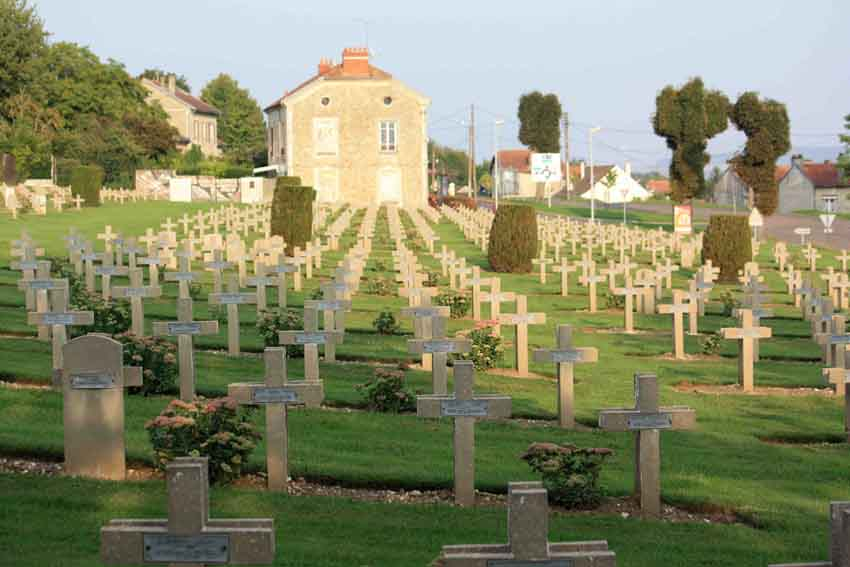Soldatenfriedhof in Chateau-Thierry an der Marne